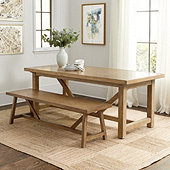 Willis Dining Table & Bench Set