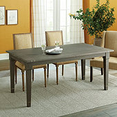 Elletra Brass Inlay Extension Dining Table