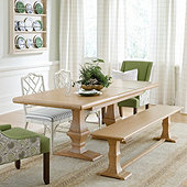 Chianni Trestle Extension Dining Table & Benches