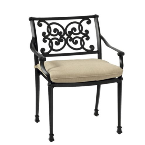 Amalfi Dining Armchairs with Cushions - Set of