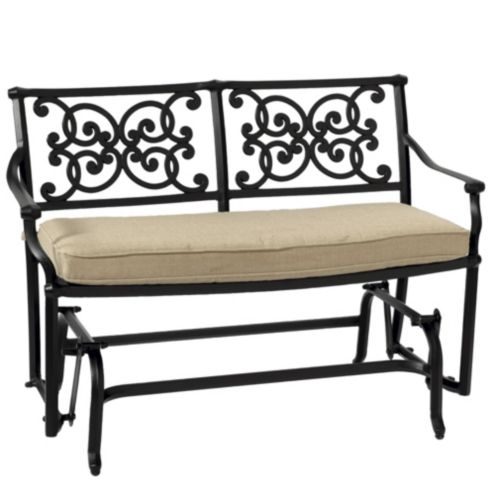 Amalfi Glider Bench with Cushion