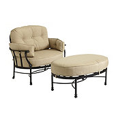 Amalfi Cuddle Chair & Ottoman with Cushions