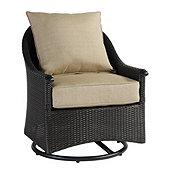 Amalfi Swivel Glider Club Chair with Cushions