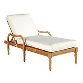 Ceylon Teak Chaise Lounge with Cushions