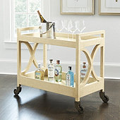 Averna Raffia Bar Cart