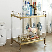 Isadora Acrylic Bar Cart