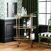 Tessa Tall Bar Cart