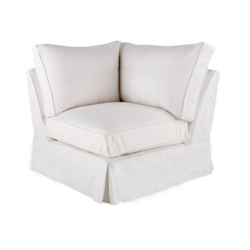 Baldwin Corner Chair Slipcover and Frame | European-Inspired