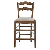 Casa Florentina Genoa Counter Stool with Linen Seat - Custom