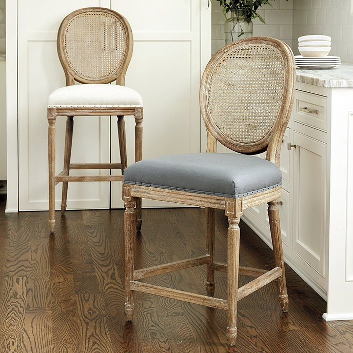 Louis Cane Back Counter Stool