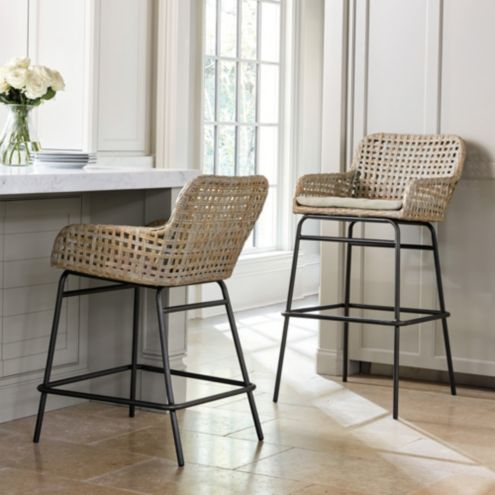 Bailey Woven Wicker Bar & Counter Stools