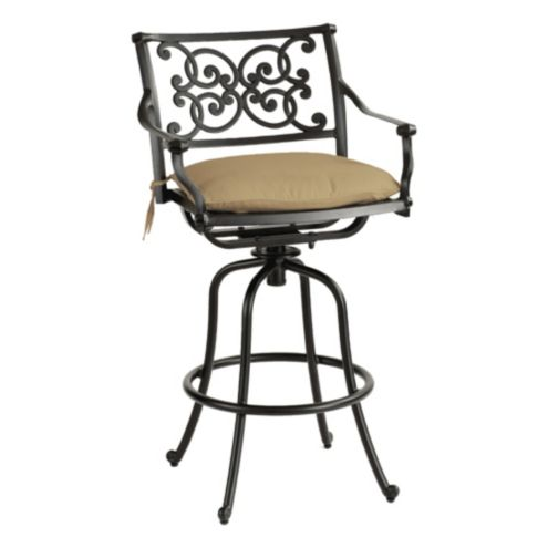Amalfi Swivel Barstool with Cushion