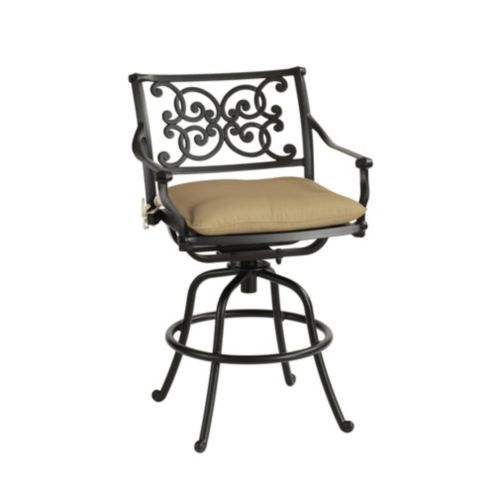 Amalfi Swivel Counter Stool with Cushion