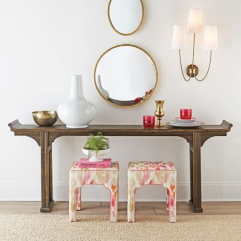 Ananda Serving Table | Rustic Black Serving Table