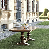Casa Florentina Tarvine Double Pedestal Extension Dining Table - Custom