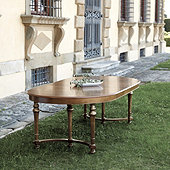 Casa Florentina Farnese Extension Dining Table - Antique Walnut Stocked