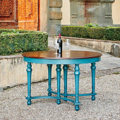 Casa Florentina Farnese Dining Table with Walnut Top - Custom