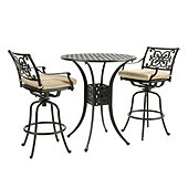 Amalfi 3-Piece Bar Set with Cushions