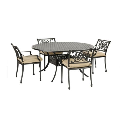 Amalfi 5-Piece Round Dining Set