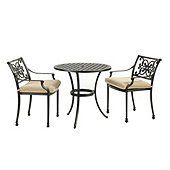 Amalfi 3-Piece Café Set with Cushions