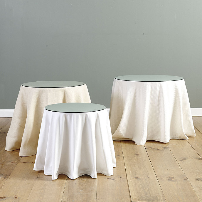 Round Table With Tablecloth.Essential Round Table Trio With Table Glass Ballard Essential