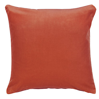 Signature Velvet & Linen Pillow in Spice