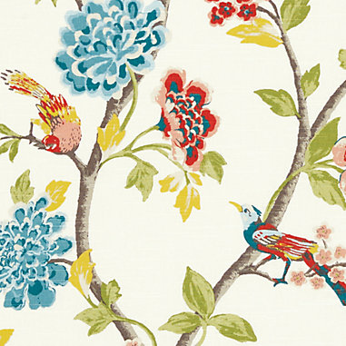 Ida Coral Fabric by the Yard