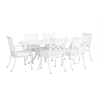 Maison 7 Piece Oval Dining Set With Cushions