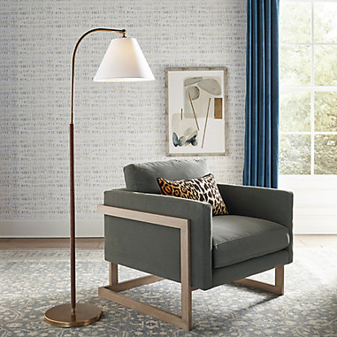 Brittan Leather Wrapped Floor Lamp