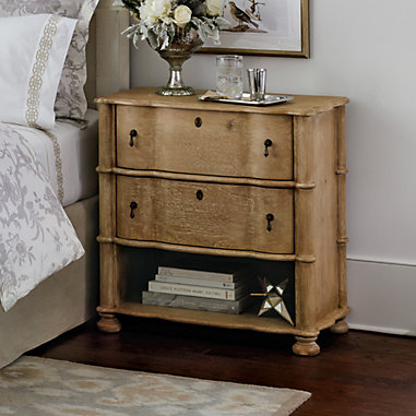 Serpentine 2-Drawer Side Table