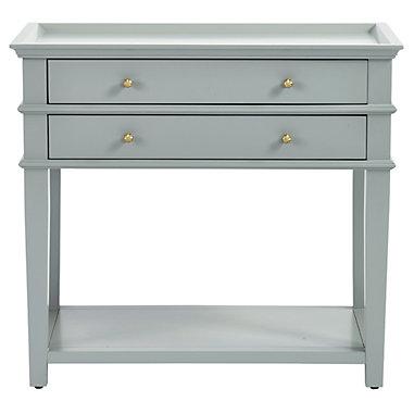 Grace 2-Drawer Open Shelf Side Table