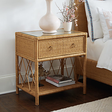 SK Southport Rattan Side Table
