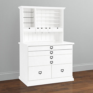 Original Home Office Craft Station with Hutch
