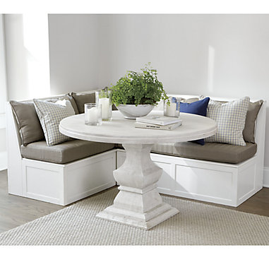 Breton 3-Piece Banquette with Seat & Back Cushions