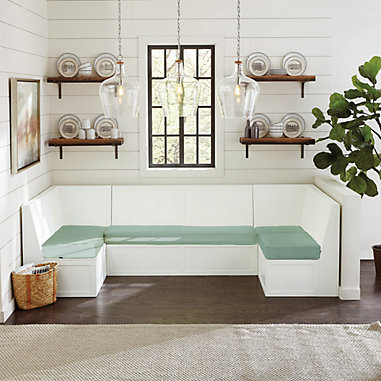 Breton 5-Piece Banquette with Seat Cushions