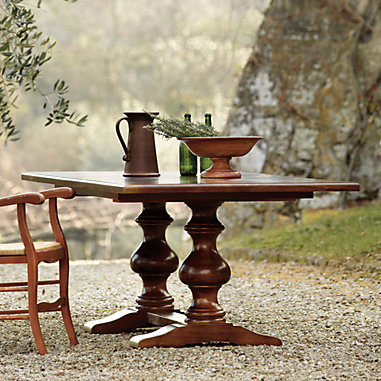Image of Casa Florentina Tarvine Double Pedestal Extension Dining Table - Stocked
