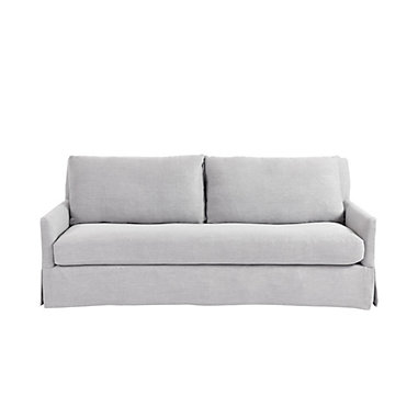 Suzanne Kasler Mathes Sofa In Helena Gray Stocked