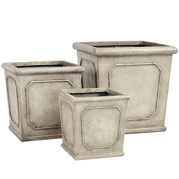 Rodin Square Planter | Ballard Designs on square aluminum planters, square iron planters, square stone planters, square brass planters, square outdoor planters, square tin planters, square terracotta planters, square fiberglass planters, square lead planters, square plastic planters, square white planters, square garden planters,