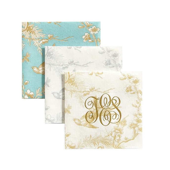 Toile Paper Linen Napkins Set Of 100 Ballard Designs