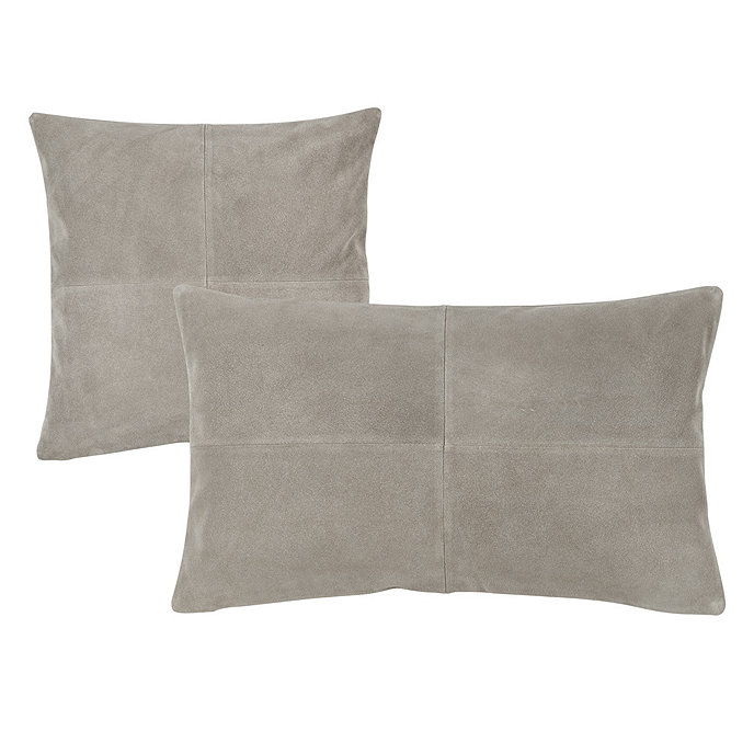 Sueded Leather Throw Pillow Covers c9ccb06ff7bb