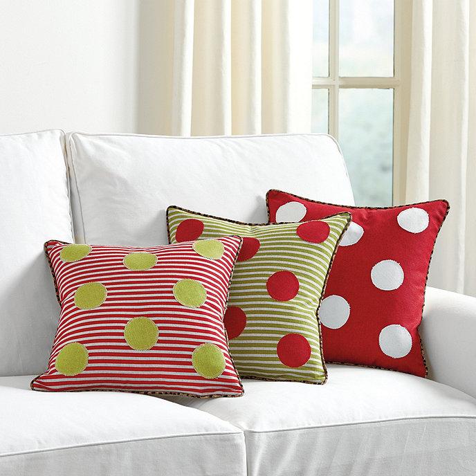 Holiday Dot Pillows Ballard Designs