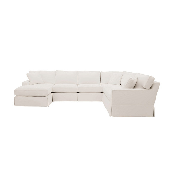 Graham 4-Piece Sectional with Left Arm Chaise and Right Arm ...
