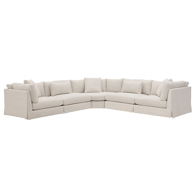 Curved Corner Sectional Left Arm Sofa