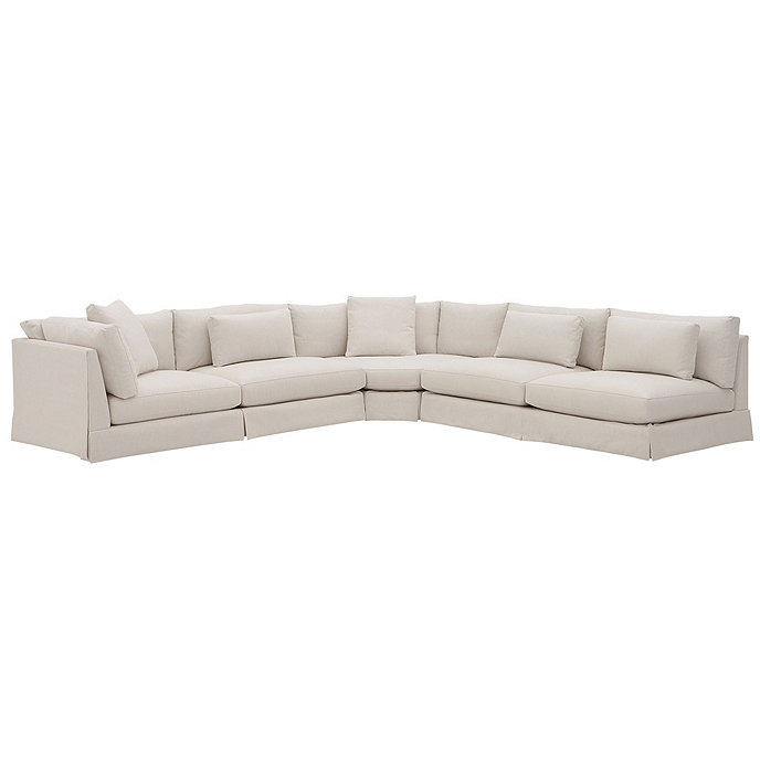 Roswell 3 Piece Curved Corner Sectional