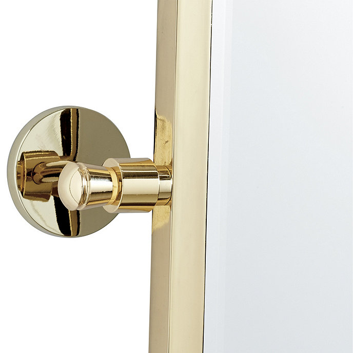 Paulette Bath Pivot Mirror Brass Ballard Designs