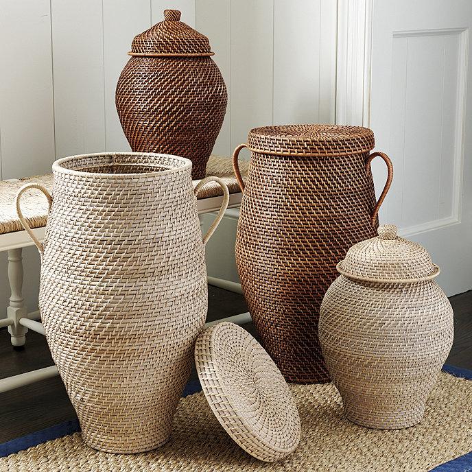 Piper Woven Urn Baskets Ballard Designs