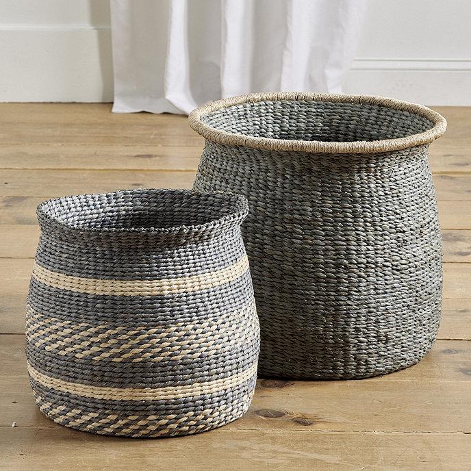 Round Raffia Baskets Ballard Designs
