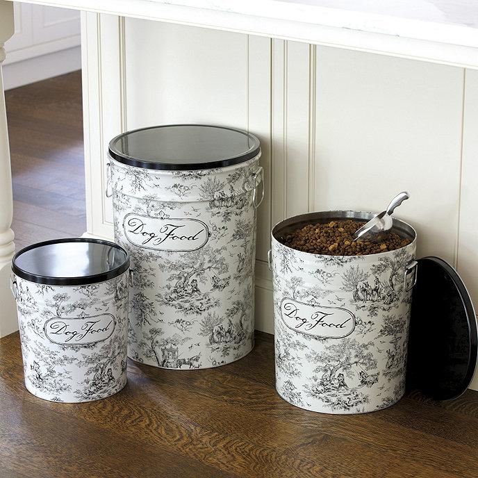 Toile Dog Food Canister Ballard Designs