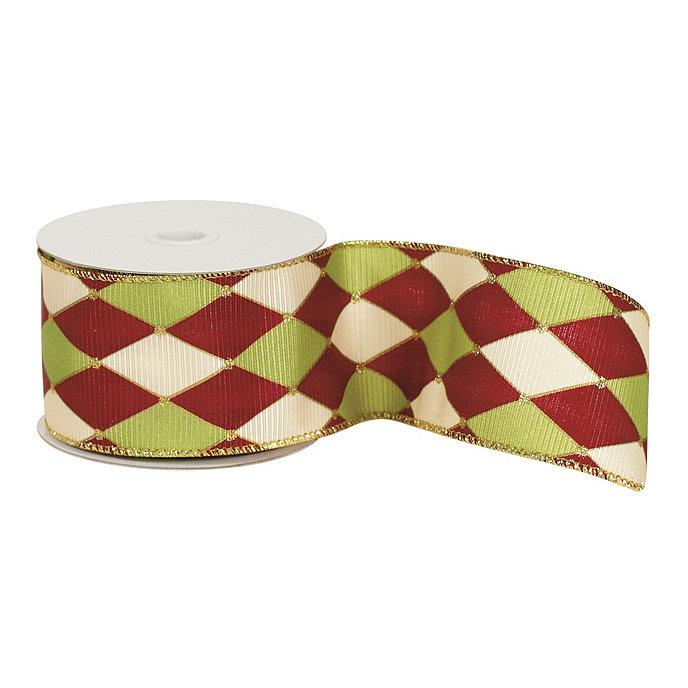 Harlequin Red Green Amp Gold Ribbon Ballard Designs