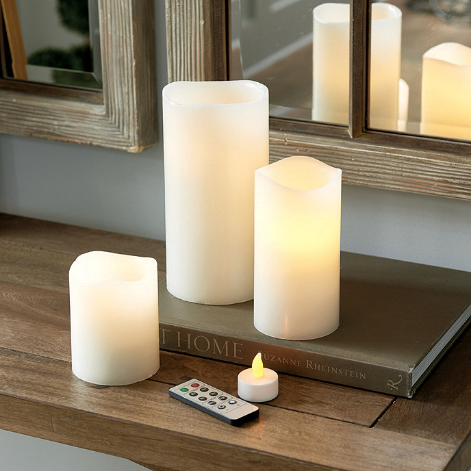 home decor ideas - flameless candles for pretty homes